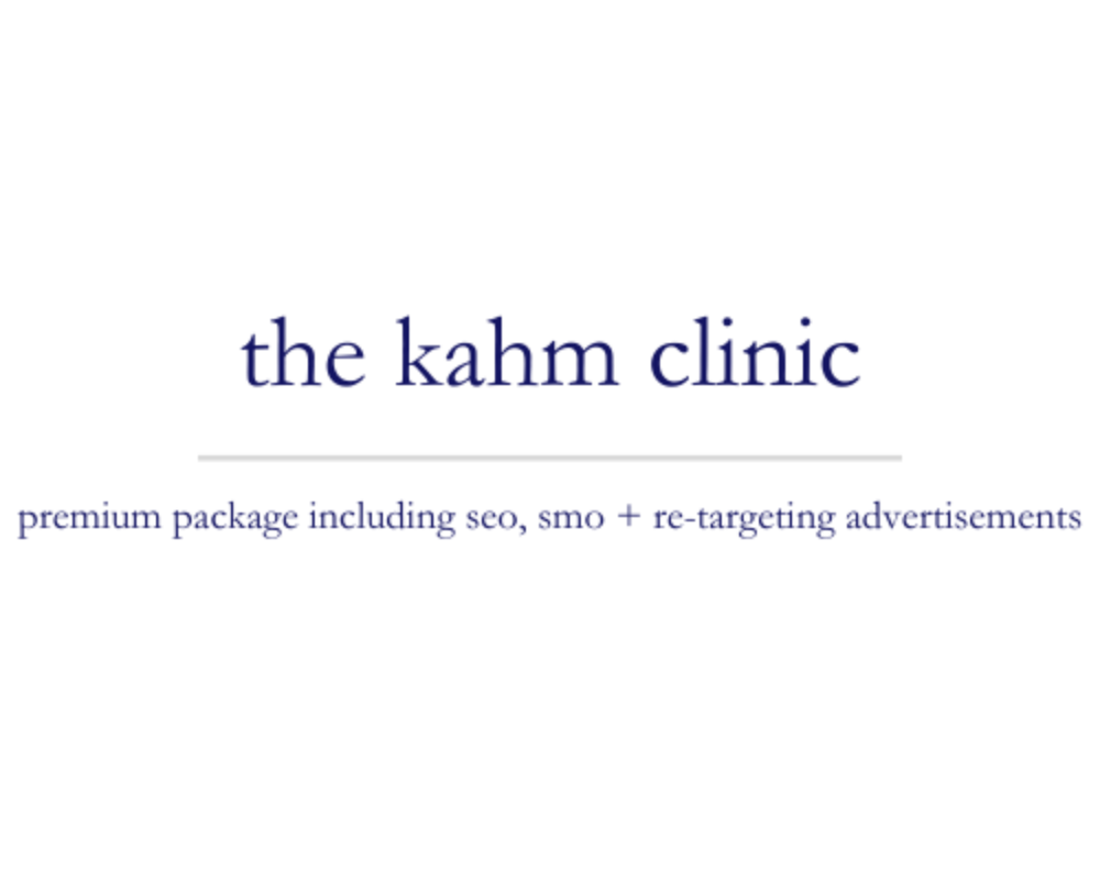 The Kahm Clinic | premium package including seo, smo + re-targeting advertisements