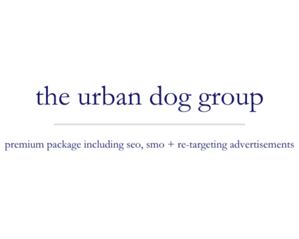 The Urban Dog Group | premium package including seo, smo + re-targeting advertisements