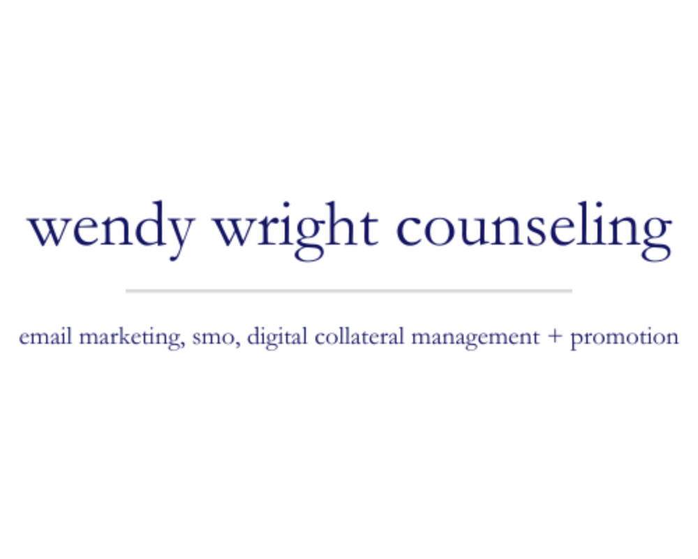 Wendy Wright Counseling | email marketing, smo, digital collateral management + promotion