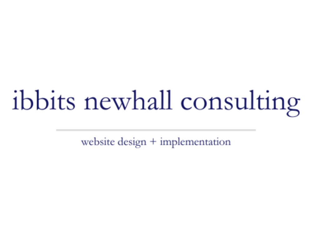 Ibbits Newhall Consulting | website design + implementation